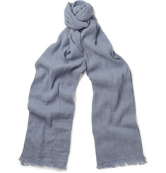 Loro Piana Dorset Flax and Cashmere-Blend Scarf