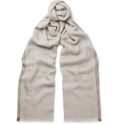 Loro Piana Mélange Cashmere and Silk-Blend Scarf