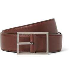 Loro Piana 4cm Brown Twice Reversible Leather Belt
