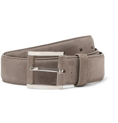 Loro Piana 3.5cm Grey Suede Belt