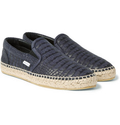 Jimmy Choo - Vlad Croc-Effect Leather Espadrilles