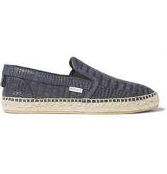 Jimmy Choo Vlad Croc-Effect Leather Espadrilles