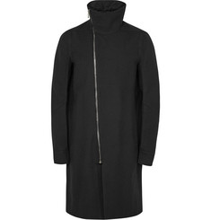 Rick Owens Funnel-Collar Wool Coat