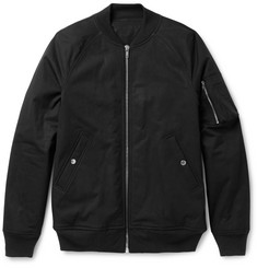 Rick Owens Stretch-Cotton Bomber Jacket