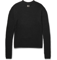 Rick Owens Ribbed Cashmere-Blend Sweater