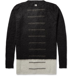 Rick Owens Colour-Block Mohair-Blend Sweater