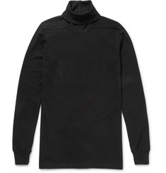 Rick Owens Slim-Fit Cotton-Jersey Rollneck Sweatshirt