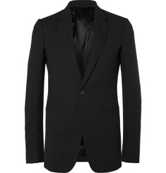 Rick Owens Black Virgin Wool-Crepe Blazer