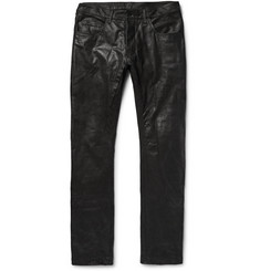 Rick Owens Detroit Slim-Fit Leather Trousers