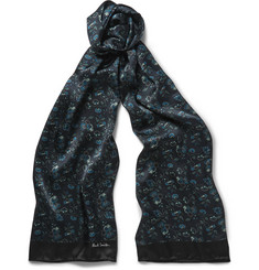 Paul Smith Logan Floral-Print Silk-Satin Scarf