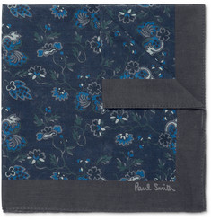 Paul Smith Logan Floral-Print Cotton Pocket Square