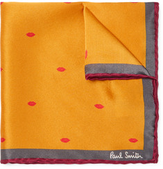 Paul Smith + Gufram Lip-Print Silk Pocket Square