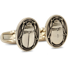 Paul Smith Scarab Beetle Gold-Tone Cufflinks