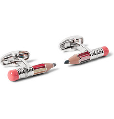 Paul Smith Pencil Silver-Tone Enamelled Cufflinks