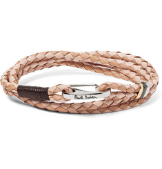 Paul Smith Two-Tone Woven Leather Wrap Bracelet