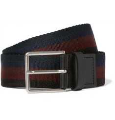 Paul Smith 3.5cm Leather-Trimmed Canvas Belt