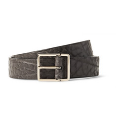 Paul Smith - 2.5cm Grey Grained-Leather Belt