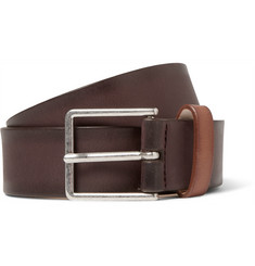 Paul Smith 3cm Brown Burnished-Leather Belt