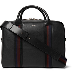 Paul Smith Stripe-Trimmed Grained-Leather Briefcase