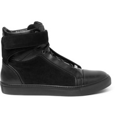 Brioni James Suede and Leather High-Top Sneakers