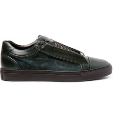 Brioni James Suede and Leather Sneakers