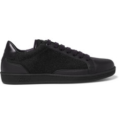 Brioni Gymnasium Textured-Leather and Felt Sneakers