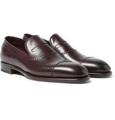 Brioni - Polished-Leather Penny Loafers