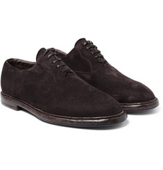 Dolce & Gabbana - Washed-Suede Oxford Shoes