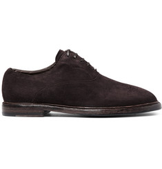 Dolce & Gabbana Washed-Suede Oxford Shoes