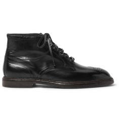 Dolce & Gabbana Leather Brogue Boots