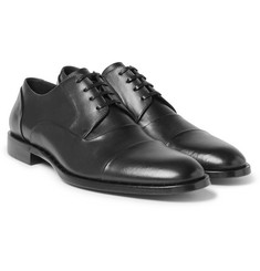 Dolce & Gabbana - Studded Cap-Toe Leather Derby Shoes