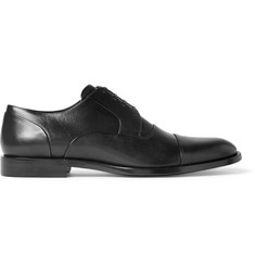 Dolce & Gabbana Studded Cap-Toe Leather Derby Shoes