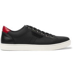 Dolce & Gabbana Rubberised Textured-Leather Sneakers