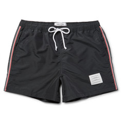 Thom Browne - Grosgrain-Trimmed Short-Length Swim Shorts