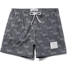 Thom Browne Hector Short-Length Dachshund-Jacquard Swim Shorts