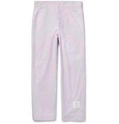 Thom Browne Striped Cotton Oxford Pyjama Trousers
