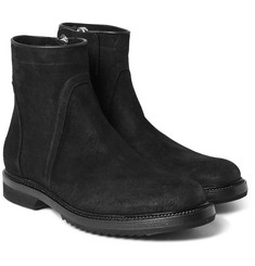 Rick Owens - Creeper Distressed-Suede Boots