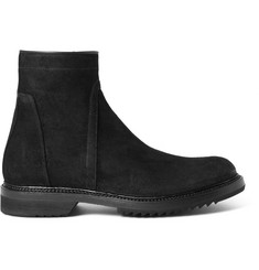 Rick Owens Creeper Distressed-Suede Boots