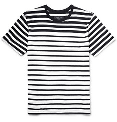 Rag & bone Striped Cotton-Jersey T-Shirt