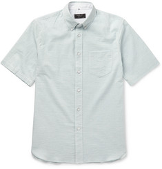 Rag & bone Button-Down Collar Striped Cotton Shirt
