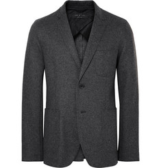 Rag & bone Charcoal Woodall Slim-Fit Unstructured Wool-Blend Blazer