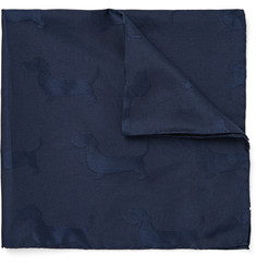 Thom Browne Hector Silk and Cotton-Blend Jacquard Pocket Square