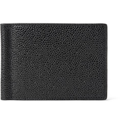 Thom Browne Pebble-Grain Leather Wallet with Money Clip