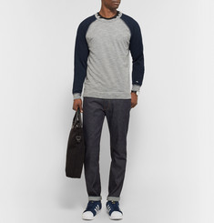 Rag & bone Two-Tone Cotton-Blend Jersey T-Shirt
