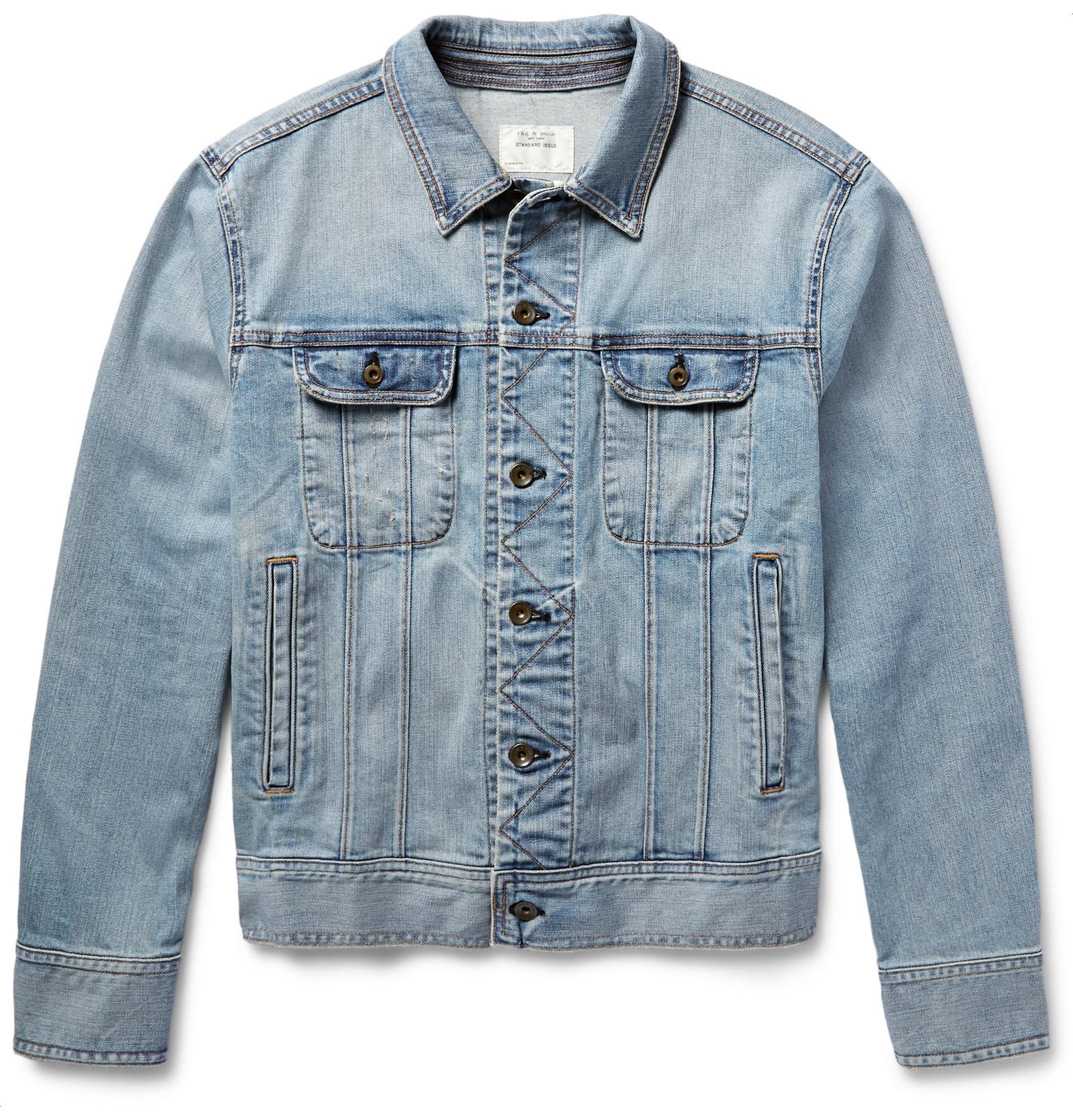 rag & bone - Standard Issue Washed-Denim Jacket