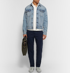 Rag & bone Standard Issue Washed Stretch-Denim Jacket