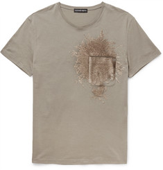 Alexander McQueen Slim-Fit Sequinned Cotton-Jersey T-Shirt