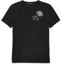 Alexander McQueen Slim-Fit Embroidered Cotton T-Shirt