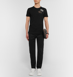 Alexander McQueen - Slim-Fit Embroidered Cotton T-Shirt