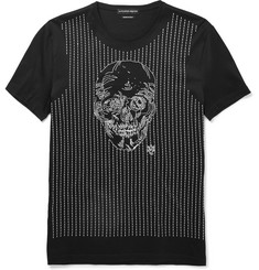 Alexander McQueen - Slim-Fit Skull-Embroidered Cotton T-Shirt